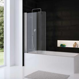 HSK Favorit Nova Badewannenaufsatz, 1-teilig ESG klar hell mit Edelglas / silber matt