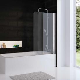 HSK Favorit Nova Badewannenaufsatz Pendeltür 1-teilig ESG klar hell mit Edelglas / silber matt
