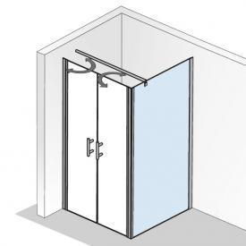 HSK Favorit Nova Seitenwand für Pendeltür klar hell Edelglas / silber matt, WEM 88,5-90,5