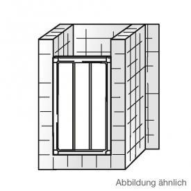 HSK Favorit Schiebetür in Nische Kunstglas tropfen hell / silber matt