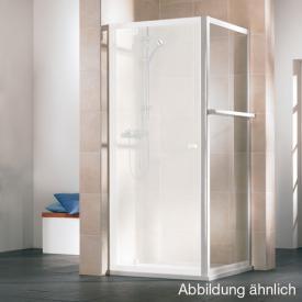 HSK Favorit Seitenwand verkürzt mit Handtuchhalter Kunstglas tropfen hell / silber matt