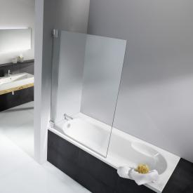 HSK K2 Badewannenaufsatz Pendeltür ESG klar hell mit Edelglas / chrom optik