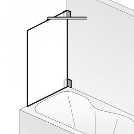 HSK K2 Seitenwand für Badewannenaufsatz ESG klar hell / chrom optik
