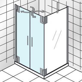 HSK K2P Pendeltür für Seitenwand klar hell / chrom, WEM 89,5-90,5 cm