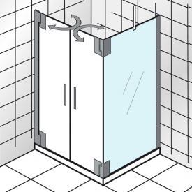 HSK K2P Seitenwand für Pendeltür klar hell Edelglas / chrom, WEM 88,5-90,5 cm