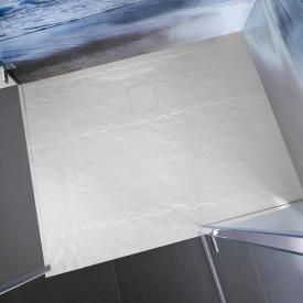 HSK Marmor-Polymer Rechteck-Duschwanne in Steinoptik, super-flach weiß
