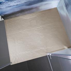 HSK Marmor-Polymer Rechteck-Duschwanne in Steinoptik, super-flach sandstein