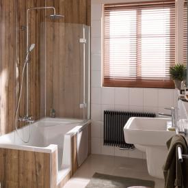HSK Premium Softcube Badewannenaufsatz 2-teilig ESG klar hell mit Edelglas / chrom optik