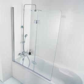 HSK Premium Softcube Badewannenaufsatz Drehfalttür 2-teilig ESG klar hell / chrom optik