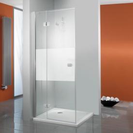 HSK Premium Softcube Pendeltür für Seitenwand mittig mattiert Edelglas / chrom