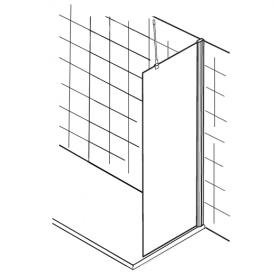 HSK Walk In Premium Seitenwand B: 90 H: 200 cm Echtglas, klar hell / weiß