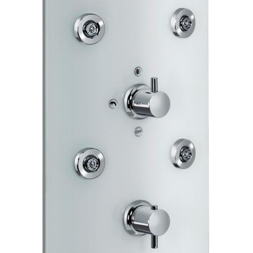 HSK ADP 100 Glas-Duschpaneel B: 330 H: 1440 mm, Kopfbrause Ø 400 H: 2 mm Glas weiß