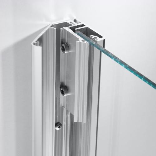 HSK Aperto verkürzte Seitenwand zu Drehtür an Nebenteil ESG klar hell mit Edelglas / chrom optik