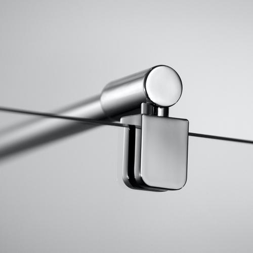 HSK Aperto Viertelkreis pendelbar 4-teilig ESG mittig mattiert / chrom optik