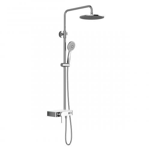 HSK AquaSwitch RS 200 Mix Shower-Set mit Kopfbrause Ø 400 H: 8 mm Glasfarbe weiß