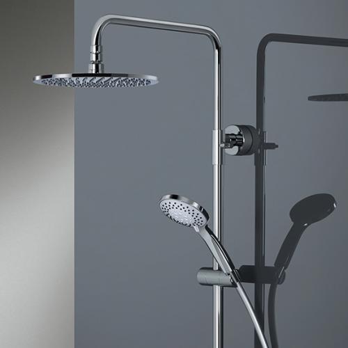 HSK AquaSwitch RS 200 Thermostat Shower-Set mit Kopfbrause Ø 250 Höhe 8 mm weiß