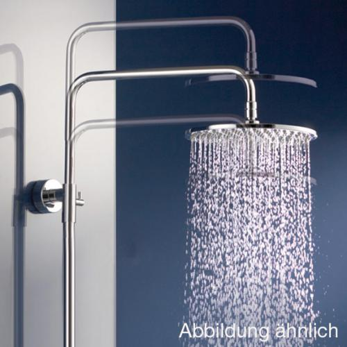HSK AquaSwitch RS 200 Thermostat Shower-Set mit Kopfbrause Ø 400 H: 8 mm Glasfarbe weiß