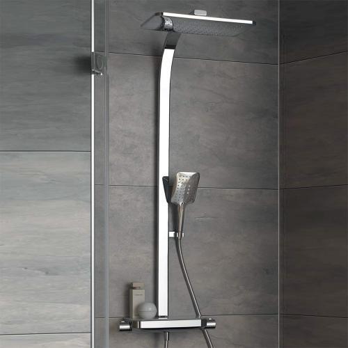 HSK AquaTray Duschsystem mit Thermostat und Schwallbrause