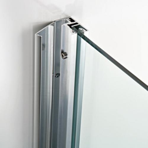 HSK Atelier Gleittüreckeinstieg 4-teilig Echtglas, klar hell/chrom