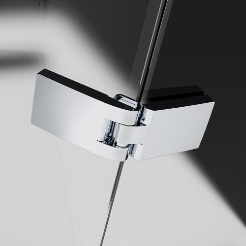 HSK Atelier Pur Pendeltür mit Nebenteil und Seitenwand klar hell / chrom
