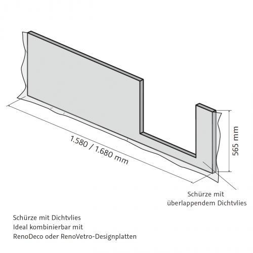 HSK Dobla Frontschürze Einstieg rechts