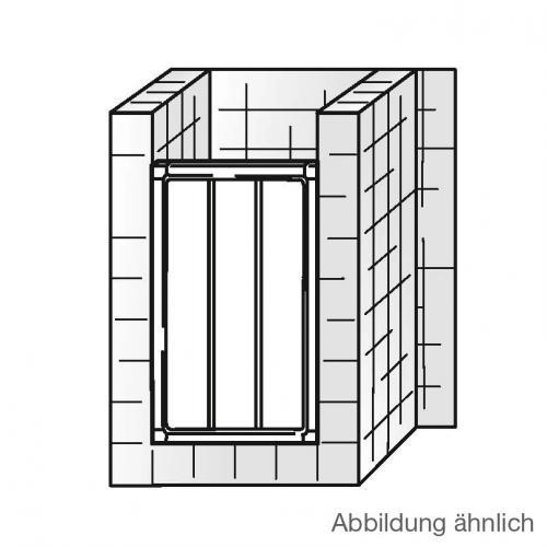 HSK Favorit Gleittür in Nische Kunstglas Tropfen hell / silber matt, WEM 70,5-75,5 cm