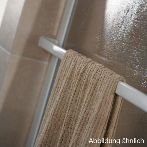 HSK Favorit Seitenwand Kunstglas Tropfen hell / silber matt