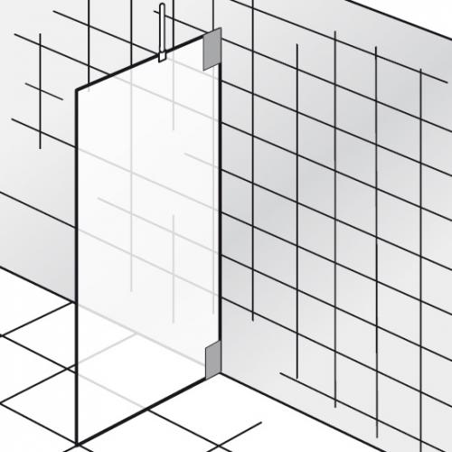 HSK K2 Seitenwand klar hell / chrom