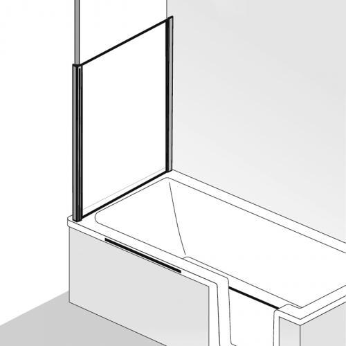 HSK Premium Softcube Seitenwand zu Badewannenaufsatz ESG klar hell / chrom