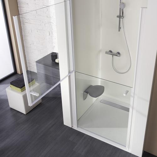 hsk rechteck duschwanne mit integrierter ablaufrinne super flach wei rinnenabdeckung. Black Bedroom Furniture Sets. Home Design Ideas