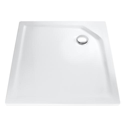 HSK Quadrat Duschwanne, super-flach weiß