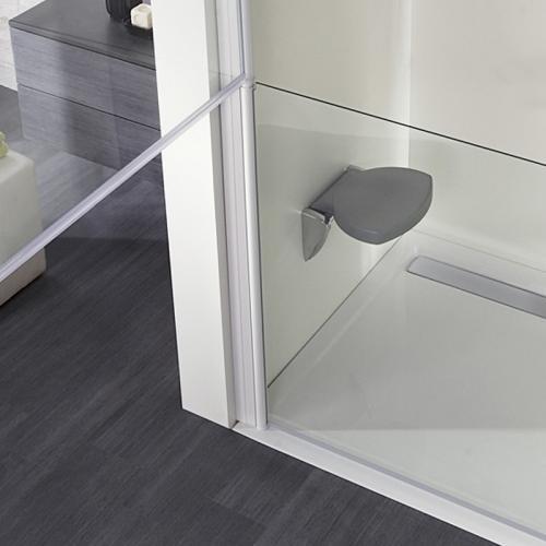 hsk rechteck duschwanne mit integrierter ablaufrinne super flach wei mit antislip beschichtung. Black Bedroom Furniture Sets. Home Design Ideas
