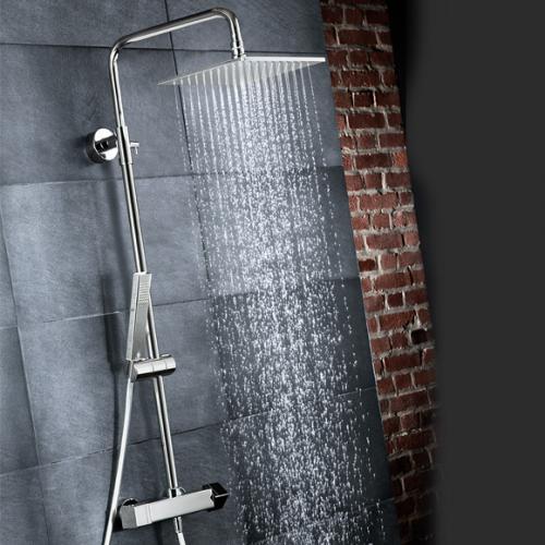 HSK RS 500 Shower-Set mit Kopfbrause B: 400 H: 8 T: 400 mm, mit Thermostat