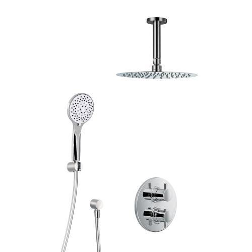 HSK Shower Set 1.04 mit Unterputz-Thermostat, Kopfbrause Ø 250 H: 2 mm, Deckenarm