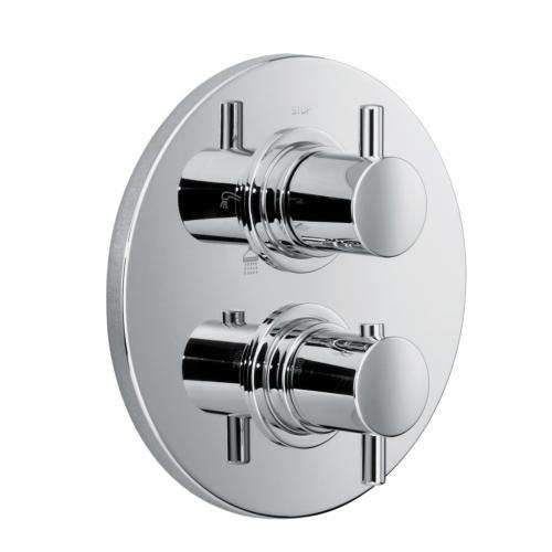 HSK Shower Set 1.04 mit Unterputz-Thermostat, Kopfbrause Ø 400 H: 2 mm, Wandarm