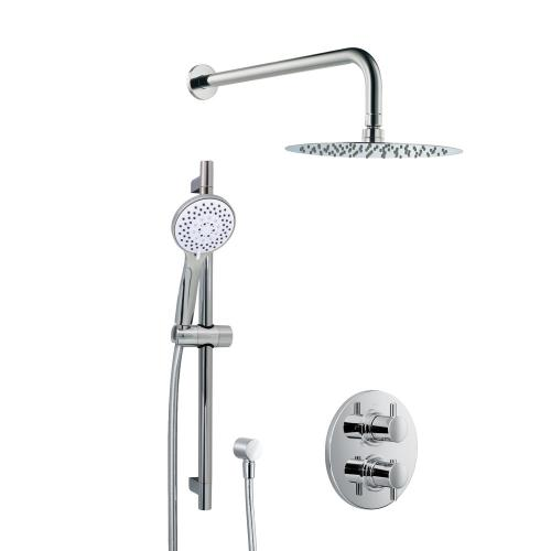 HSK Shower Set 1.05 mit Unterputz-Thermostat, Kopfbrause Ø 400 H: 2 mm