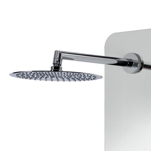 HSK Softcube Duschpaneel B: 220 H: 1500 mm mit Kopfbrause Ø 300 H: 2 mm Glas verspiegelt