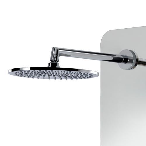 HSK Softcube Duschpaneel B: 220 H: 1500 mm mit Kopfbrause Ø 400 H: 8 mm Glas verspiegelt