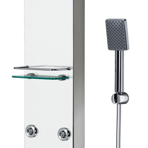 HSK Softcube Duschpaneel B: 220 H: 1500 mm mit Kopfbrause B: 400 T: 250 mm Glas verspiegelt