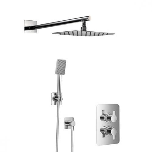 HSK Softcube Shower Set 2.04 mit Kopfbrause B: 300 H: 2 T: 200 mm, mit geradem Wandarm