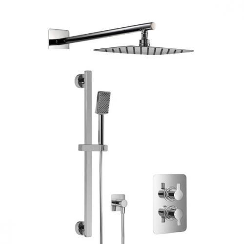 HSK Softcube Shower Set 2.05 mit Kopfbrause B: 550 H: 2 T: 350 mm, mit geradem Wandarm