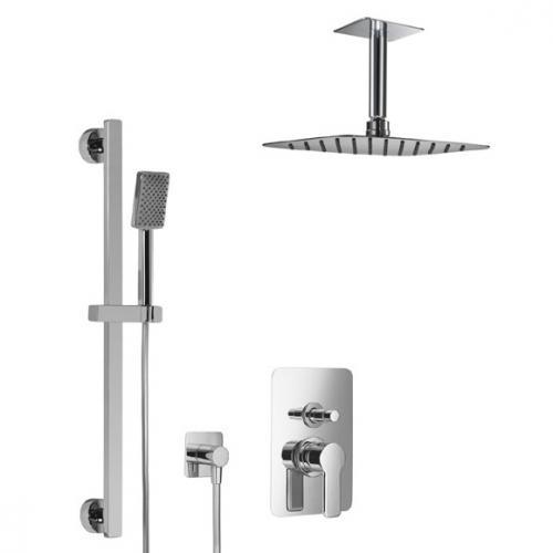 HSK Softcube Shower Set 2.25 mit Kopfbrause B: 400 H: 2 T: 250 mm, mit Deckenarm