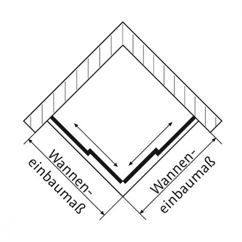HSK Solida Gleittür Eckeinstieg, bodenfrei klar hell / silber matt, WEM 78,5-80,5