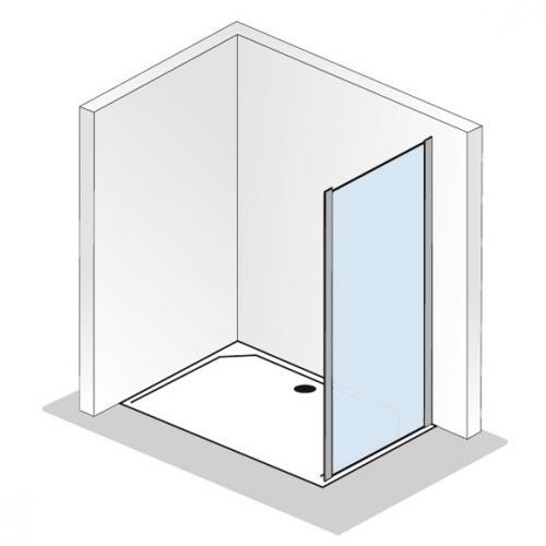 HSK Solida Seitenwand für Gleittür klar hell / silber matt, WEM 73,5-75,5