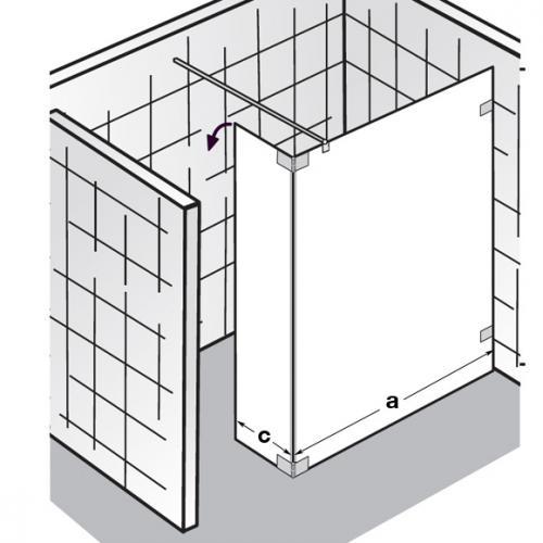 hsk walk in atelier pur duschwand schwenkbarem seitenteil klar hell edelglas chrom optik ap. Black Bedroom Furniture Sets. Home Design Ideas