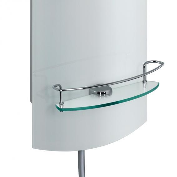 HSK ADP 100 Glas-Duschpaneel B: 330 H: 1440 mm, Kopfbrause Ø 400 H: 8 mm Glas weiß