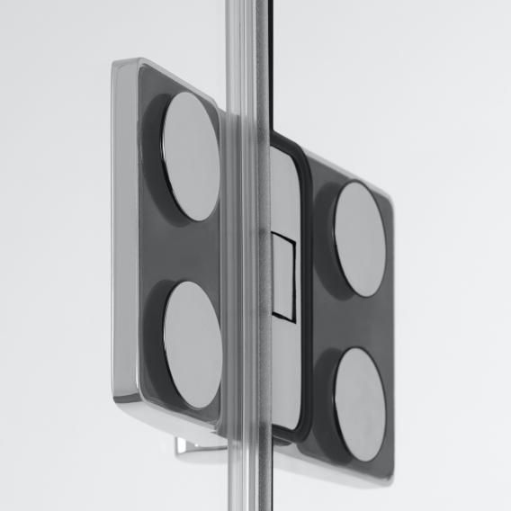 HSK Aperto Raumnische pendelbar 3-teilig ESG klar hell / chrom optik
