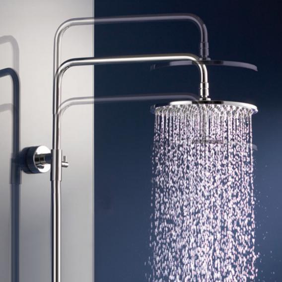 HSK AquaSwitch RS 200 Thermostat Shower-Set mit Kopfbrause flach weiß