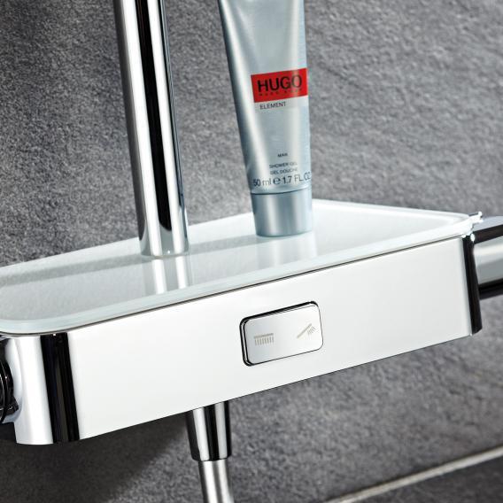 HSK AquaSwitch RS 500 Thermostat Shower-Set mit Kopfbrause B: 250 H: 2 T: 250 mm Glasfarbe weiß