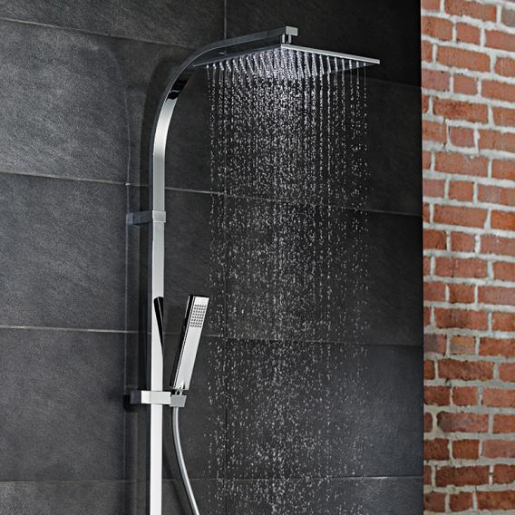HSK AquaSwitch RS 500 Thermostat Shower-Set mit Kopfbrause B: 250 H: 8 T: 250 mm Glasfarbe weiß